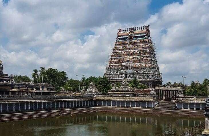 Nataraja Temple in Chidambaram – Brihadeeswara Temple in Thanjavur – Srirangam Temple in Trichy